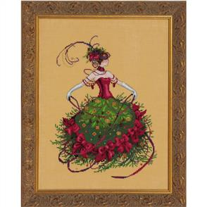 Mirabilia  Cross Stitch Pattern - with Bead Kit: Miss Christmas Eve