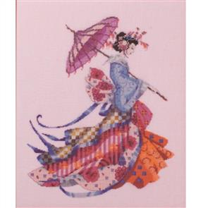 Mirabilia  Cross Stitch Pattern- with Bead Kit: Miss Cherry Blossom