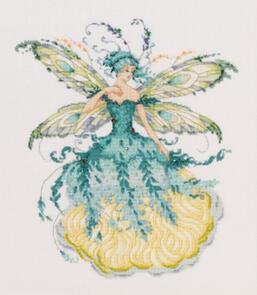 Mirabilia  Cross Stitch Chart + Bead Pack - March Aquamarine Fairy