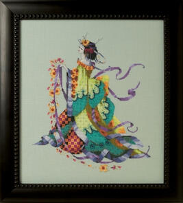 Mirabilia  Cross Stitch Chart + Bead Pack - Miss Dancing Flower