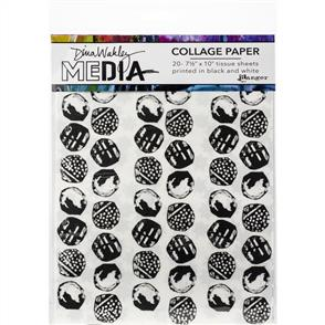 "Ranger Ink Dina Wakley Media - Collage Tissue Paper 7.5""X10"" 20/Pkg"