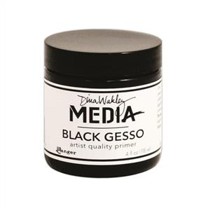 Ranger Ink  Dina Wakley Media Gesso 4oz Jar - Black
