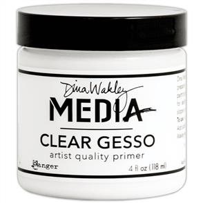Ranger Ink  Dina Wakley Media Gesso 4oz Jar - Clear