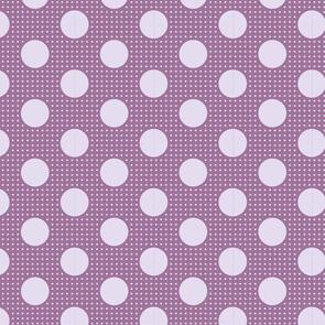 Tilda  Fabric - Basics - Medium Dots Lilac