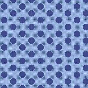 Tilda  Fabric - Basics - Medium Dots Denim Blue