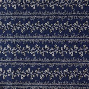 Marcus Fabric  Indigo & Claret - 1920 Navy