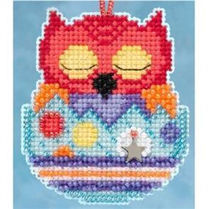 Mill Hill  Beaded Cross Stitch Kit - Owlets - Huey