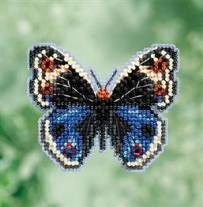 Mill Hill  Beaded Kit - Blue Pansy Butterfly