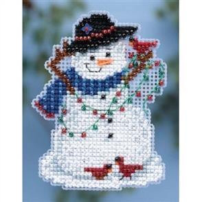 Mill Hill  Bead & Cross Stitch Kit: Snow Fun