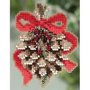 Mill Hill  Beaded Cross Stitch Kit - Pinecone
