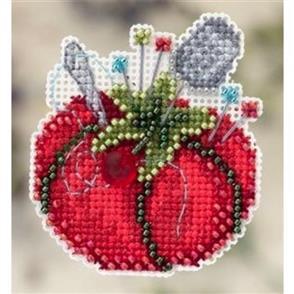 Mill Hill Bead & Cross Stitch Kit: Tomato Pincushion