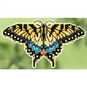 Mill Hill  Bead & Cross Stitch Kit: Yellow Swallowtail
