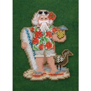 Mill Hill  Bead & Cross Stitch Kit: Hawaii Santa