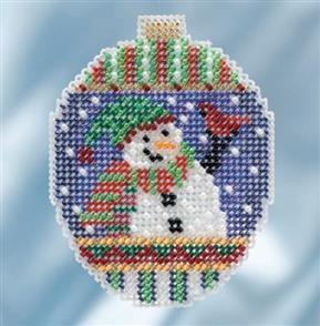 Mill Hill  Beaded Cross Stitch Kit - Snowman Greetings