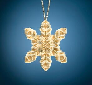 Mill Hill  Beaded Holiday, Pearl Snowflake