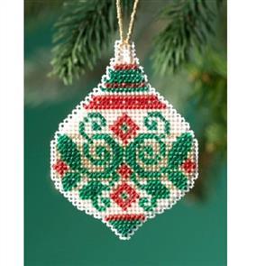 Mill Hill  Bead & Cross Stitch Kit: Emerald Flourish