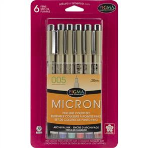 Pigma Micron Pens - 005 - 0.2mm 6/Pkg