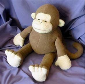Funky Friends Factory  Mitch the Monkey Soft Toy Sewing Pattern