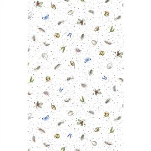 Maywood Studios Hanah Dale Wrendale Designs Fabric - Love Is - Little Naturals White