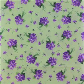 Michael Miller  Fabric - Blossoming Bouquets - 3878 Green
