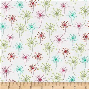 Michael Miller  Fabrics - Flower Puffs - 7509 White