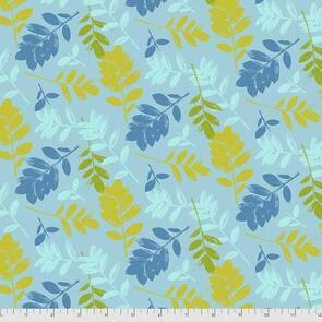 Primitive Gatherings Mod Cloth ZZ Leaf Blue Fabric PWSK007.EARTH