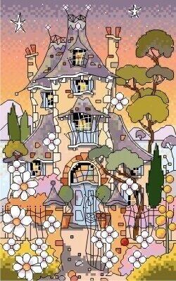 Michael Powell  Cross Stitch Kit - Pine Tree Cottage