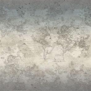 Hoffman Fabric  - Vintage World Map - STONE