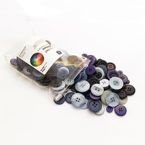 Trendy Trims  Bulk Buttons - Multisize Mix - Blue