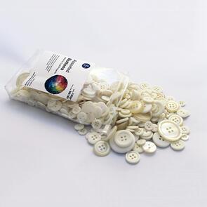 Trendy Trims  Bulk Buttons - Multisize Mix - Cream