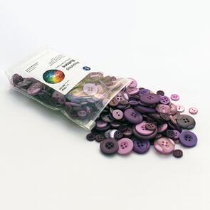 Trendy Trims  Bulk Buttons - Multisize Mix - Purple