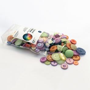 Trendy Trims  Bulk Buttons - Multisize Mix - Baby Colours