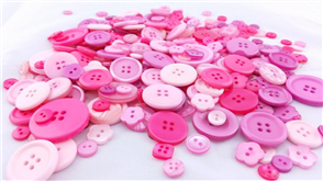 Trendy Trims  Bulk Buttons - Pink Mix