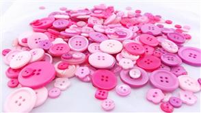 Trendy Trims Bulk Buttons - Pink Mix