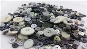 """Trendy Trims Bulk Buttons - Multicoloured Mix """"Pebble"""""""