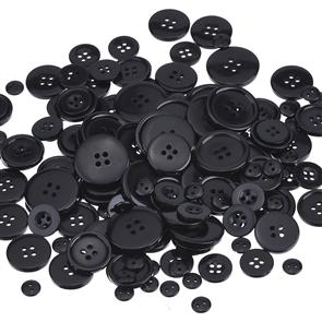 Trendy Trims Bulk Buttons - Multisize Mix - Black