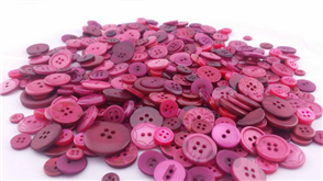 Trendy Trims Bulk Buttons - Burgundy Mix