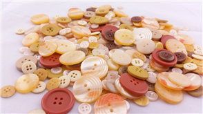 Trendy Trims  Bulk Buttons - Amber Mix