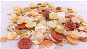 Trendy Trims Bulk Buttons - Amber Mix