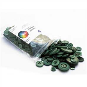 Trendy Trims  Bulk Buttons - Christmas Green