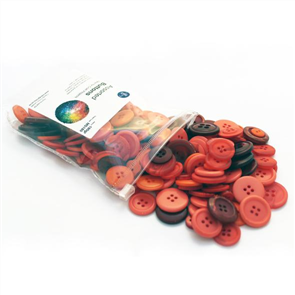 Trendy Trims  Bulk Buttons - Assorted Red Buttons