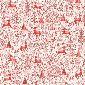 Makower  UK Fabrics - Scandi Scenic Red