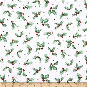 Maywood Studios Hanah Dale Wrendale Designs Fabric - Warm Wishes - Holly