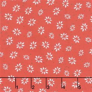 Maywood Studios Hanah Dale Wrendale Designs Fabric - Warm Wishes - Snowflake Star Red