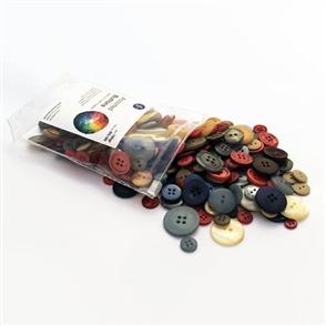 Trendy Trims Bulk Buttons - Multisize Mix - Earthy Tones