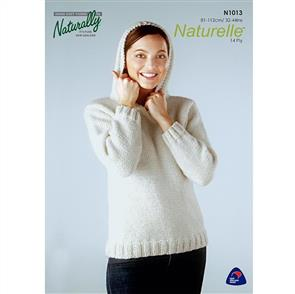 Naturally N1013 Sweater with Hood