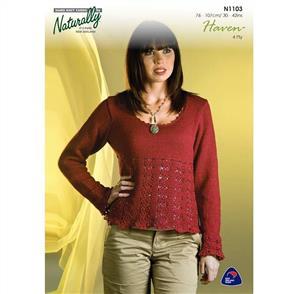 Naturally N1103 Knit / Crochet Sweater