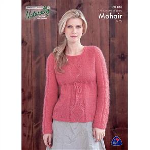 Naturally N1137 Empire Tunic with Lace Panel