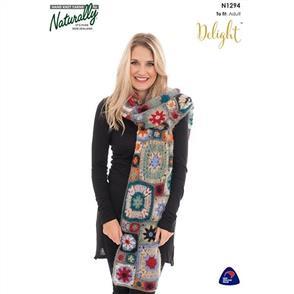 Naturally N1294 Crochet Shawl