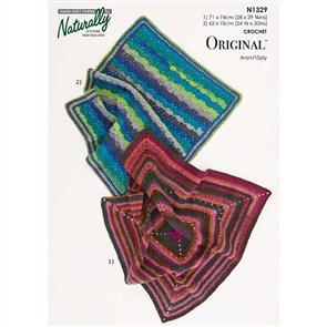 Naturally N1329 2 Crochet Baby Blankets